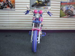 Kids Harley Style Power Ride on Motorcycle 6v Wheels Pink Harley Girls