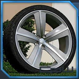 Marcellino 22 Wheels Rims and Tires Silver Fits Dodge Challenger