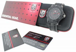 Luminox GGL L 8802 Mens Black Rubber Strap Designer Watch