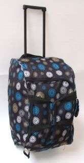 Large Womens wheeled Spiral Travel Bag in Charcoal, Black or