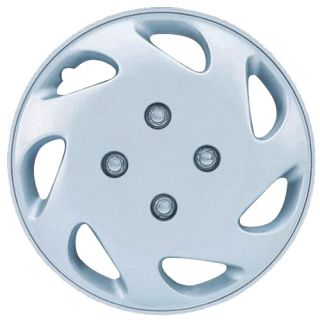 Hub Cap ABS Silver 13 Inch Rim Wheel Skin Cover Center 4 pc caps Set