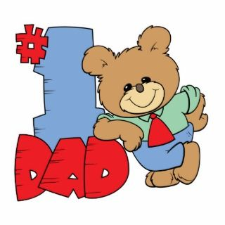 number one dad teddy bear design acrylic cut out