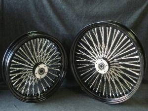 DNA Mammoth 52 Spoke Black Wheel Set for Harley Softail Touring