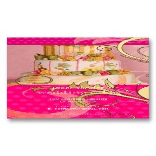 Wedding Cake/Bakery/pâtisserie Business Card Template