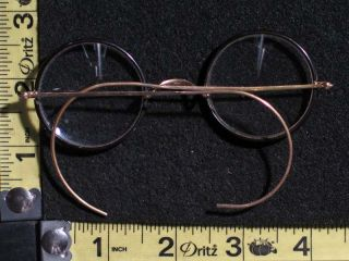 Gold Filled Eye Glasses Eyeglasses Spectacles with Black Rims