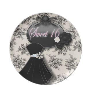 Elegant Vintage Rose Sweet 16 Gift Plate