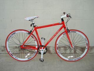 Fixie Fixed Gear Alloy Bicycle Bike 53cm RD 818 Men Red