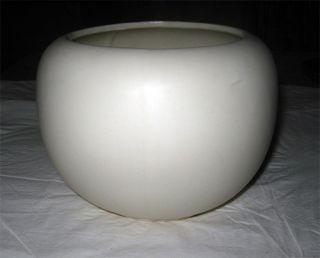 McCoy Floraline Matte White Large Flower Bowl 406 Jardiniere