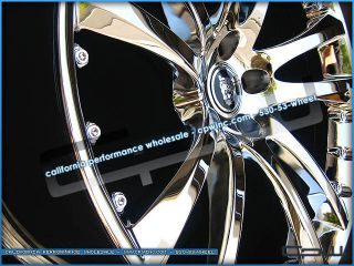 New 20 Senta Chrome Wheels Rims Tires Package Deal Fits 2008 2012