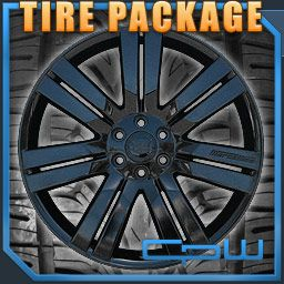 24 inch Cadillac Escalade Wheels Rims Tires Package Gloss Black 6 Lug