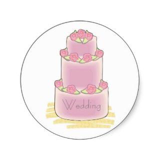 Pink Wedding Cake Stickers