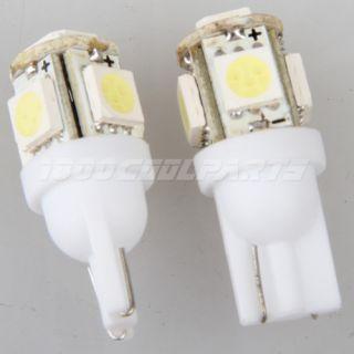 Pair White T10 Wedge 5 SMD 5050 LED Light Bulbs 192 168 194 2825 158