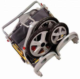 Instep Grand Safari Swivel Wheel Double Jogger Stroller 11 AR282