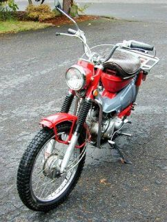 1970 Honda CT90 Ct Trail 90 Headlight Head Light Chrome Rim
