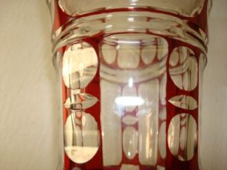 Bohemian Ruby Flashed Glass Vase Urn