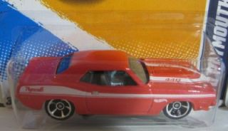 Hot Wheels 70 Plymouth AAR Cuda 2012 Factory Hologram Master Set 1 64