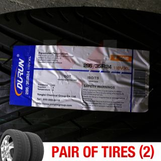 Set of 2 New 295 35R24 Durun Fone Two Tires 1 Pair 295 35 24 2953524
