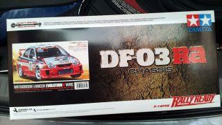 Tamiya # 58461 1/10 RC Mitsubishi Lancer Evo V WRC   DF03 Ra BRAND NEW