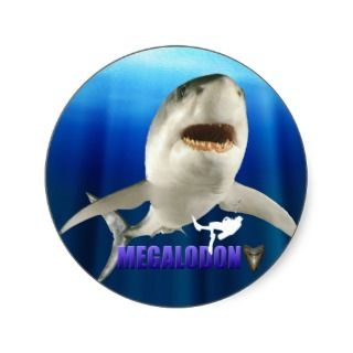 Megalodon Stickers