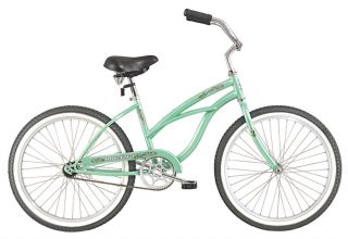 24 Beach Cruiser Bicycle Bike Lady Pantera Mint Green