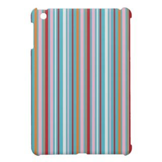 Preppy striped multicolored stripes stripe pattern iPad mini covers