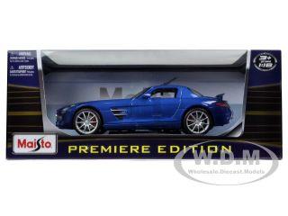 Mercedes SLS AMG Gullwing Blue 1 18 Diecast Model Car by Maisto 36196