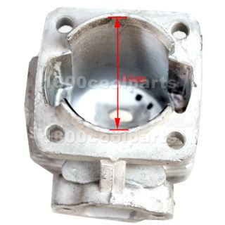 Engine Cylinder Housing Body 49cc 50cc 2 stroke Mini ATV Quad Pocket