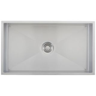 32 Stainless Steel Square Single Bowl Kitchen Sink
