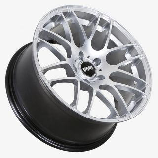 VMR 718 HYPER SILVER STAGGERED WHEEL 5X120 FIT BMW 325 328 330 335 M3