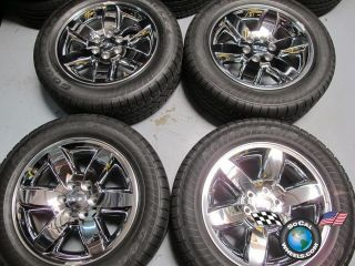 GMC Yukon Sierra Denali Factory 20 Wheels Tires OEM Rims Chrome Clad
