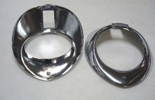 1940 Ford Deluxe Car Chrome Headlight Rims Pair 40 Dlx
