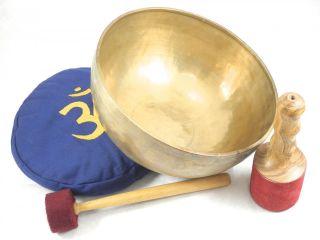 Huge Master Healing Old F Chakra Tibetan Singing Bowl 11 F2040 Retail