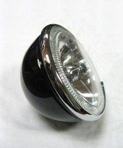 Tri Bar Blue Dot Headlights w/ LED Turn Signals & Primered King Bee