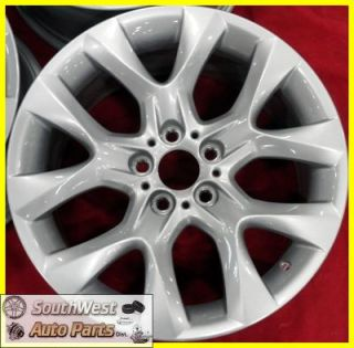 BMW X5 19 5 SPOKE SILVER TAKE OFF WHEELS OEM FACTORY RIMS #334 71440