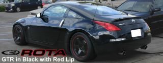on a Brand New Set of Rota P45R Wheels in Matte Black with Red Stripe
