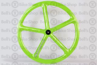 Aerospoke Track Front Wheel Lime Non Machined Fixed Gear