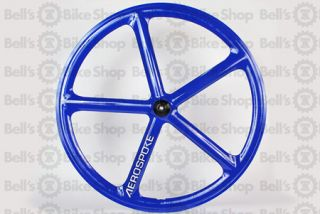 Aerospoke Track Front Wheel Blue Non Machined Fixed