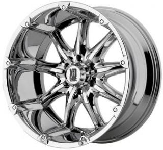 XD Badland Chrome 18x9 Chevy GMC Ford Dodge Jeep H2