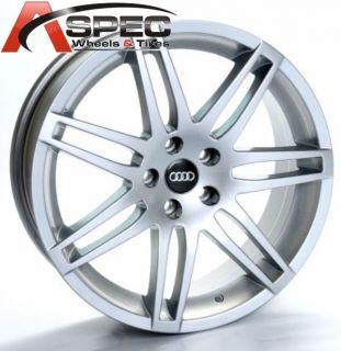 18 Audi RS4 Style Hyper Silver 5x112 Wheel Fit Audi A4 A5 A6 S4 S5 VW