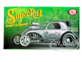 Brand new 1:18 scale diecast model car of Fiat Super Rat Altered