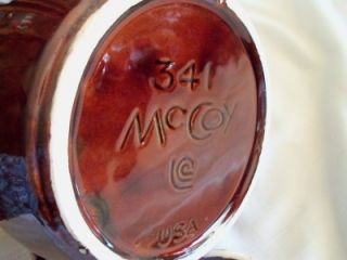 Vintage McCoy Brown Drip Small Bean Pot 341 Pottery