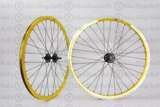 Weinmann DP18 Deep V Track Wheels Gold Fixed Gear 700c