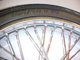 78 Kawasaki KZ650 KZ 650 Front Wheel Rim and Tire