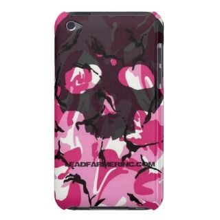 LFI Double Tap Skull Pink camo for the i pod touch iPod Touch Case