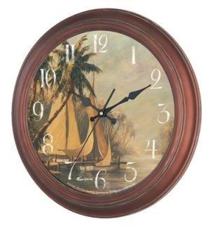 New Haven Sail Boat Wall Clock in Antique Copper 1022CP Sail