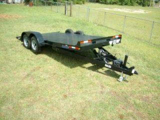 Hawke 18 Equipment Electric Tilt Steel Carhualer Trailer 5200 Axles w
