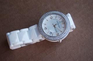 Kors Womans White Ceramic Crystals Watch MK5308 $395 00