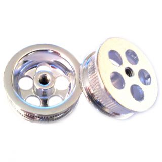 Co Chrome 5 Hole Mag Aluminum Wheels Threaded Axle New Mint