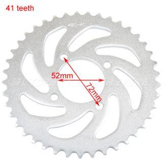 41 Teeth Rear Sprocket 420 Chain Dirt Bikes 50cc 70cc 90cc 110cc 125cc
