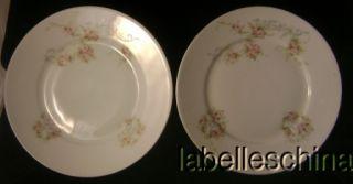 Vintage Victoria Austria Small Roses Pie Plates Wear X2